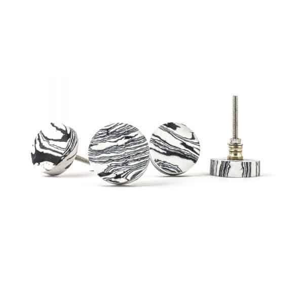 Zebra Synthetic Stone Knob