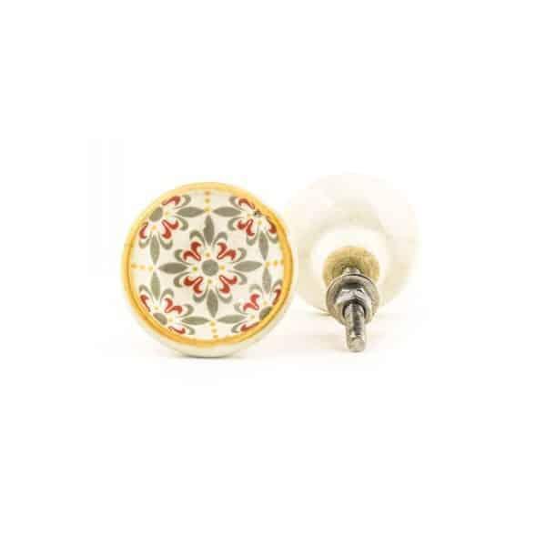 Victorian Floral Damask Knob