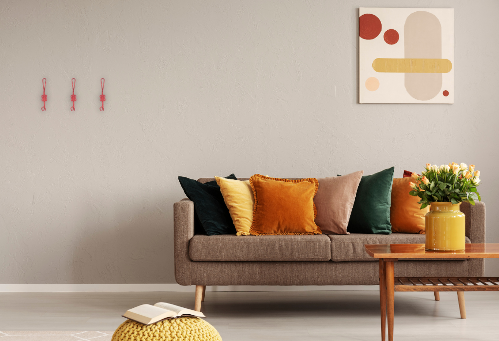 red wall hooks - How to Apply Colour Psychology to your Interior Styling and Design