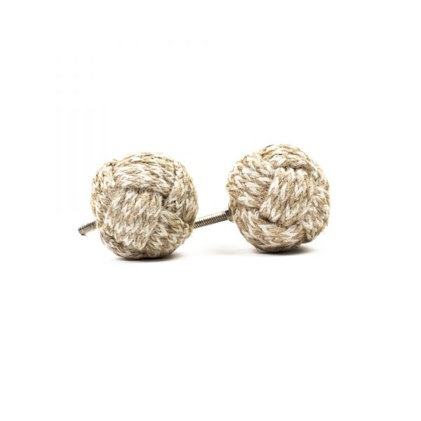 Jute and Cotton Weaved Knob