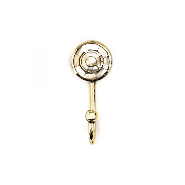 Small Gold and Pearl Target Wall Hook