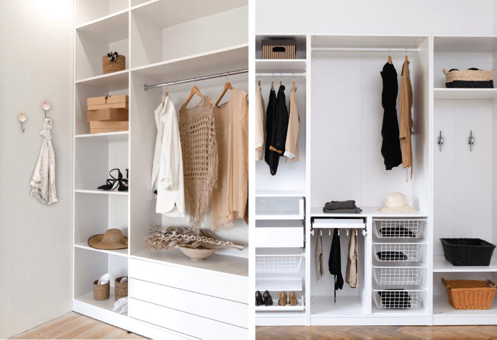 blog images split wardrobe 3 - From Overwhelmed to Organised: 5 DIY Wardrobe Makeover Ideas